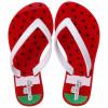 Chinelo Infantil WorldColors Summer Kids - Vermelho/Branco
