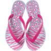 Chinelo Infantil WorldColors Summer Kids - Azul Perolado/Pink