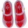 Sapatilha Infantil WorldColors Angel Baby - Transparente/Vermelho