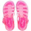 Sandália Infantil WorldColors Drops Kids - Pink/Transparente