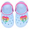 Babuche Infantil WorldColors Pop Baby com LED - Azul Céu