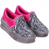 Tênis Infantil WorldColors Shine Teens- Zebra/pink