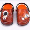 Babuche Infantil Wboys Pop Clear Baby- Preto Translucido/Laranja