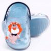 Babuche Infantil Wboys Pop Clear Baby - Transparente/Azul Acqua/Marinho