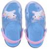 Babuche Infantil WorldColors Clear Baby - Transparente/azul Ceu