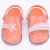 Babuche Infantil WorldColors Pop Clear Kids- Transparente/Papaya