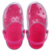 Babuche Infantil WorldColors Clear Kids - Transparente/pink